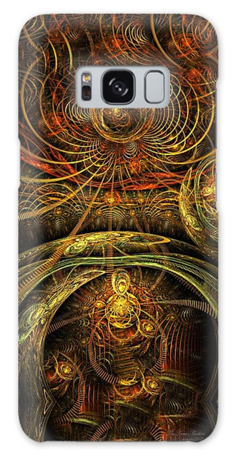 Fractal Galaxy S8 Case featuring the digital art The Time Masters by Gayle Odsather