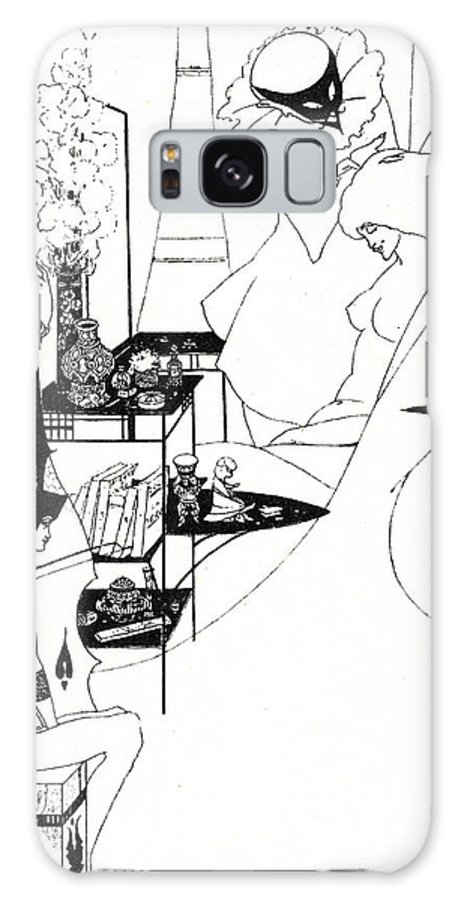 Design Galaxy S8 Case featuring the drawing The Toilette Of Salome by Aubrey Beardsley
