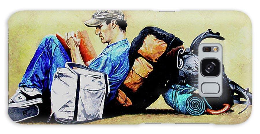 Travel Galaxy S8 Case featuring the painting The Traveler 2 - El Viajero 2 by Rezzan Erguvan-Onal