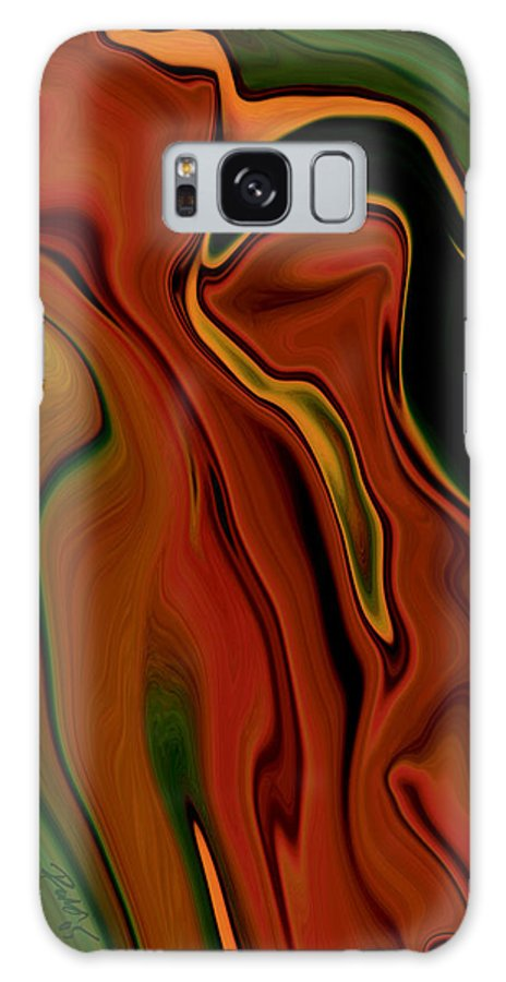 Abstract Galaxy S8 Case featuring the digital art The Two by Rabi Khan