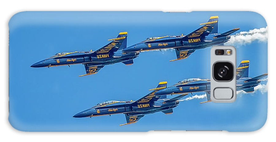 Aviation Galaxy S8 Case featuring the photograph The Usn Blue Angels by Larry Hinson
