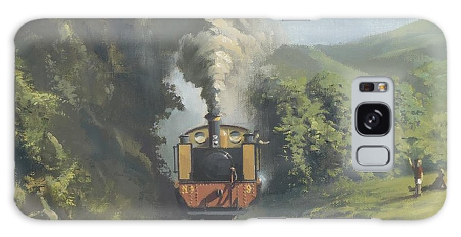 Steam Galaxy S8 Case featuring the painting The Vale Of Rheidol Railway by Richard Picton