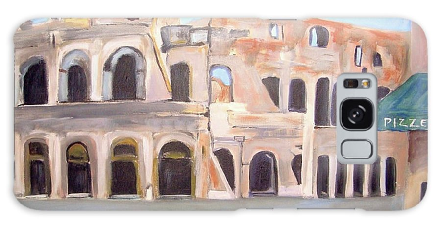 Cityscape Galaxy S8 Case featuring the painting The View Of The Coliseum In Rome by Teresa Dominici
