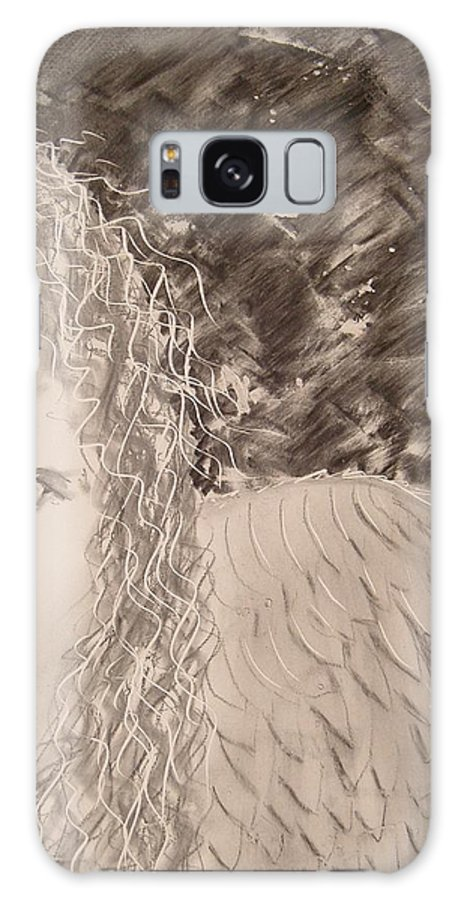Angel Galaxy S8 Case featuring the drawing The Viewing by J Bauer