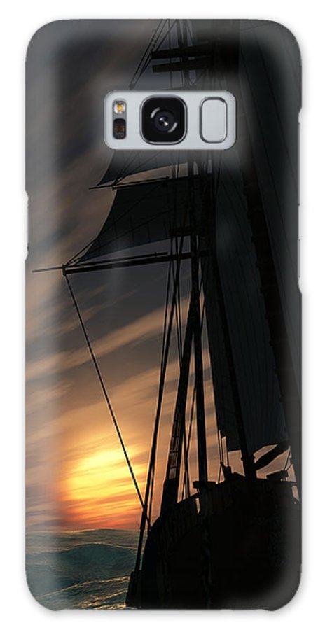 Ships Galaxy S8 Case featuring the digital art The Voyage Home by Richard Rizzo
