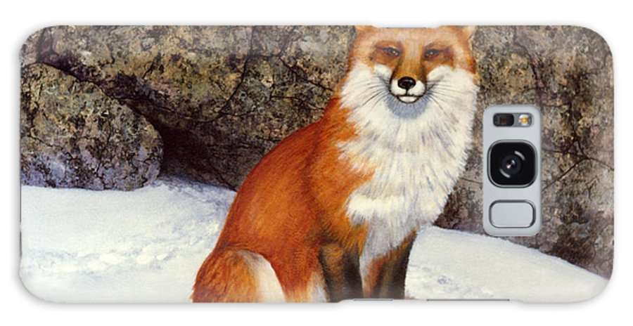 Wildlife Galaxy Case featuring the painting The Wait Red Fox by Frank Wilson