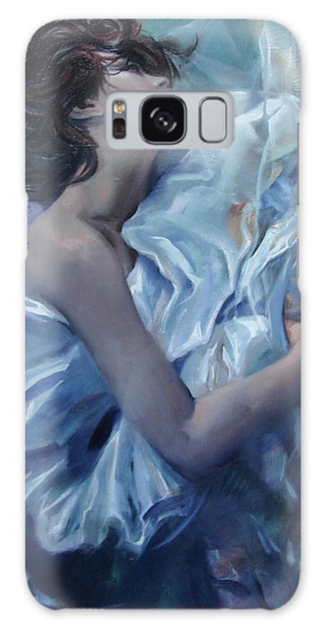 Ignatenko Galaxy Case featuring the painting The waiting for the spring by Sergey Ignatenko