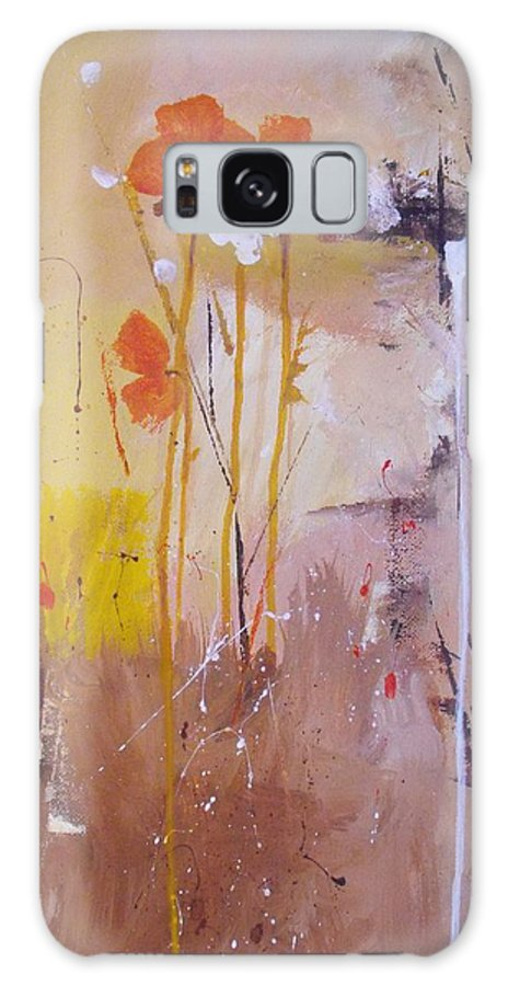 Abstract Galaxy Case featuring the painting The Wallflowers by Ruth Palmer