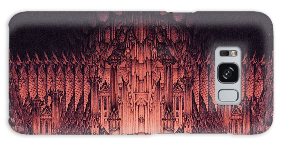Barad Dur Galaxy Case featuring the drawing The Walls Of Barad Dur by Curtiss Shaffer