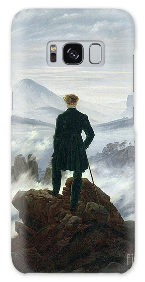 The Galaxy Case featuring the painting The Wanderer above the Sea of Fog by Caspar David Friedrich