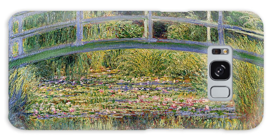 The Galaxy Case featuring the painting The Waterlily Pond with the Japanese Bridge by Claude Monet