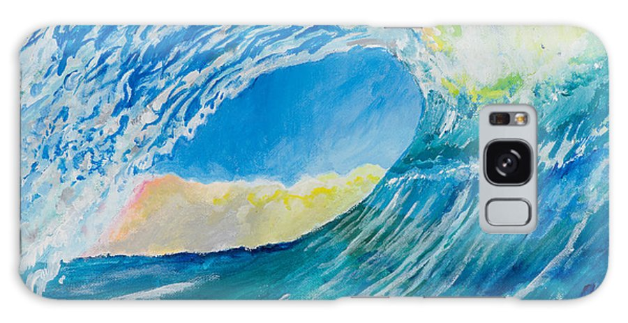Water Galaxy S8 Case featuring the painting The Wave by John Hopson