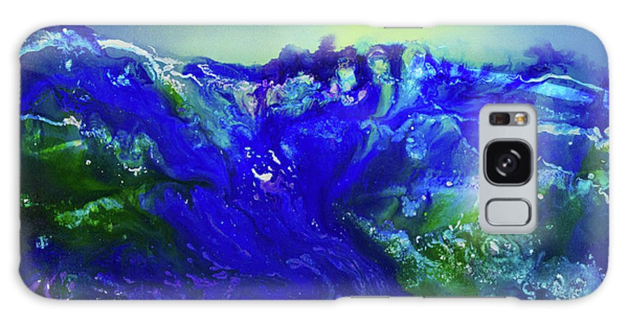 Art Galaxy S8 Case featuring the painting The Wave by Karen Towey