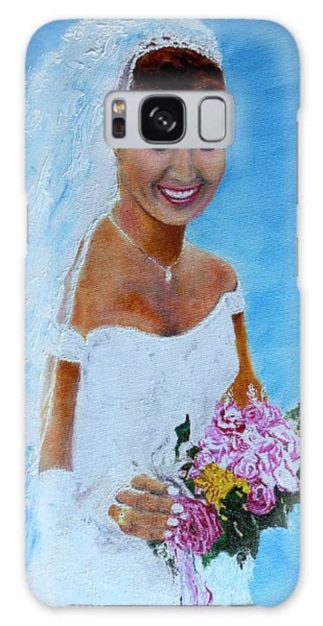 Wedding Galaxy S8 Case featuring the painting the wedding day of my daughter Daniela by Helmut Rottler