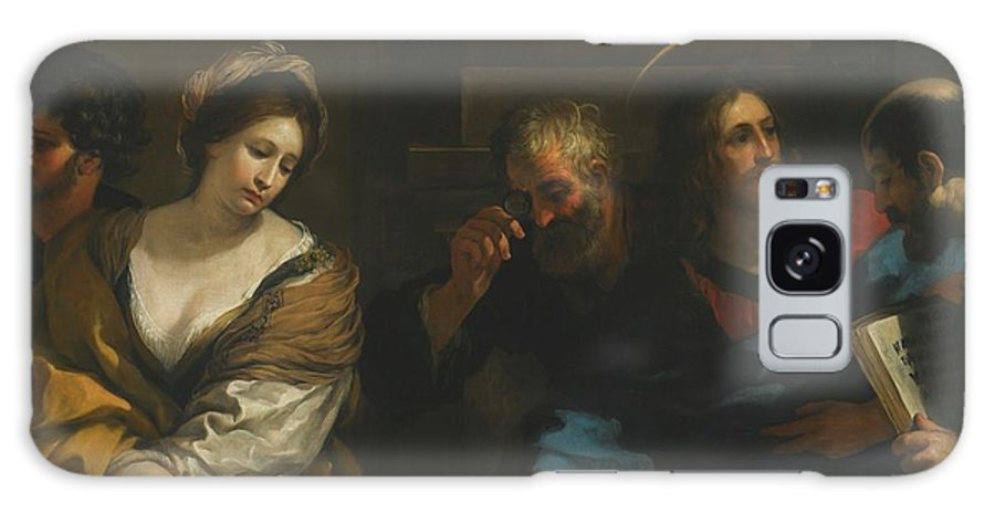 Pietro Berrettini Galaxy S8 Case featuring the painting The Woman Taken In Adultery by Pietro Berrettini