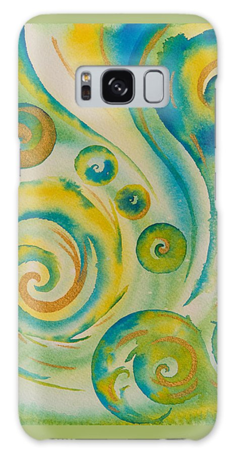 Abstract Galaxy S8 Case featuring the painting The Wonder by Evita Kristapsone