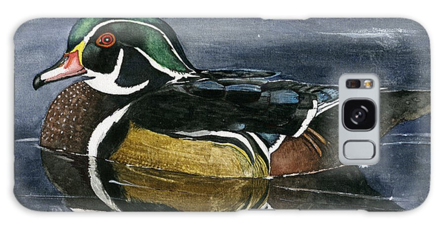 Wood Duck Galaxy S8 Case featuring the painting The Wood Duck by Mary Tuomi