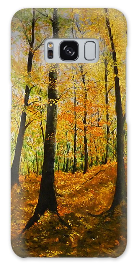 Fall Galaxy S8 Case featuring the painting The Wood For The Trees by Lizzy Forrester