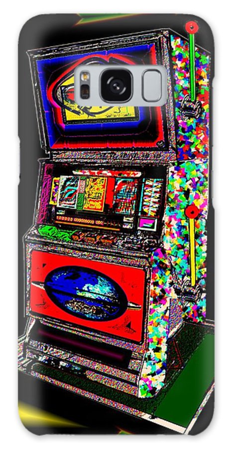 Greed Galaxy Case featuring the digital art the World-Trade-Slot-Machine by Helmut Rottler
