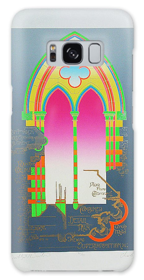 Church Galaxy S8 Case featuring the mixed media The Wurlitzer Window by Charles Stuart