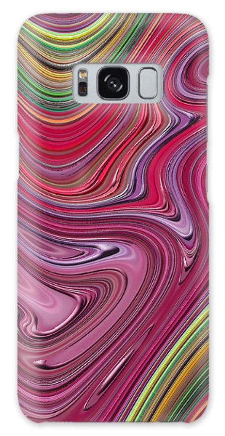 Colorful Galaxy S8 Case featuring the digital art Thick Paint Abstract by Melissa A Benson