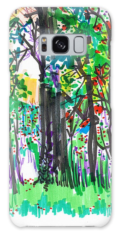 Forest Galaxy Case featuring the drawing Thicket by Seth Weaver