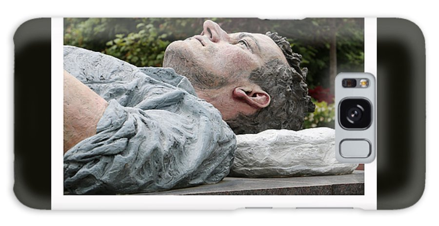 Statue Galaxy S8 Case featuring the photograph Things Are Looking Up by Love in America