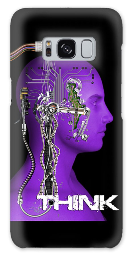 Illustration Galaxy S8 Case featuring the digital art Think by Carlos Diaz