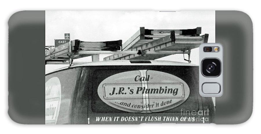Humorous Logo Galaxy S8 Case featuring the photograph Think Of Us by Joe Jake Pratt