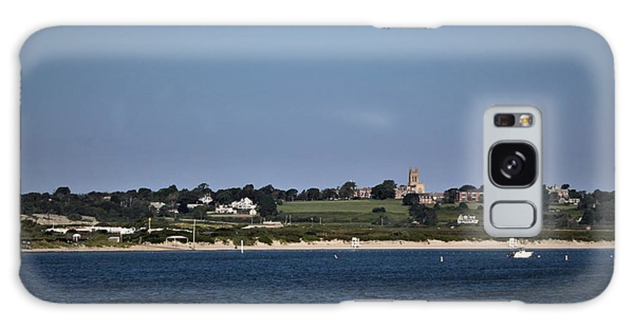 Galaxy S8 Case featuring the photograph Third Beach Middletown With Church by Arthur DuBois