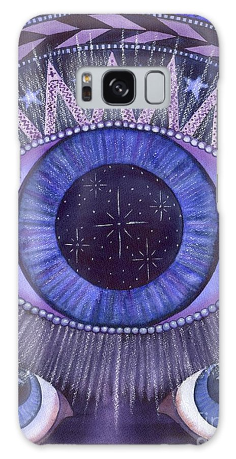 Thrid Eye Galaxy S8 Case featuring the painting Third Eye Chakra by Catherine G McElroy