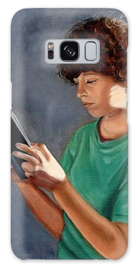 Portrait Galaxy Case featuring the painting Thirst For Knowledge by Toni Berry