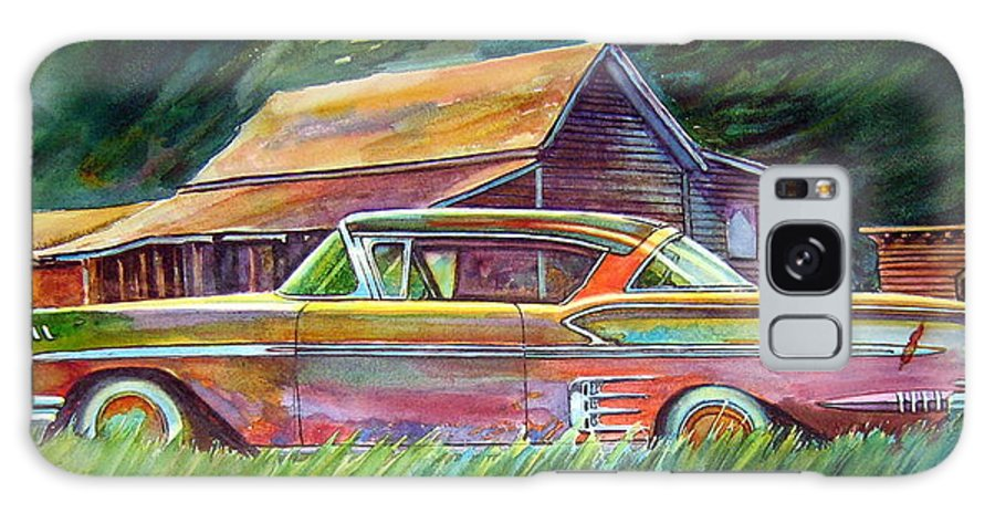 Rusty Car Chev Impala Galaxy S8 Case featuring the painting This Impala Doesn by Ron Morrison