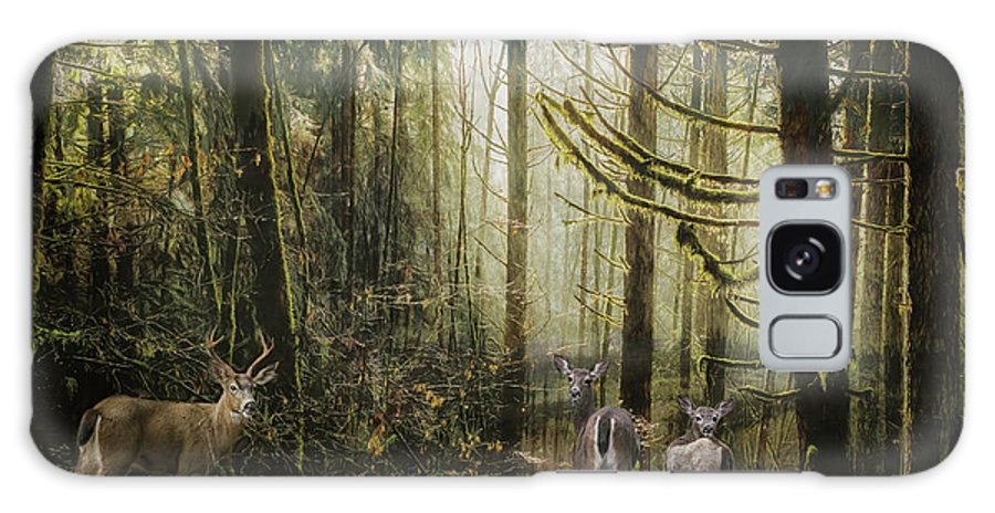 Buck Galaxy S8 Case featuring the mixed media This Is Our Home by Belinda Greb
