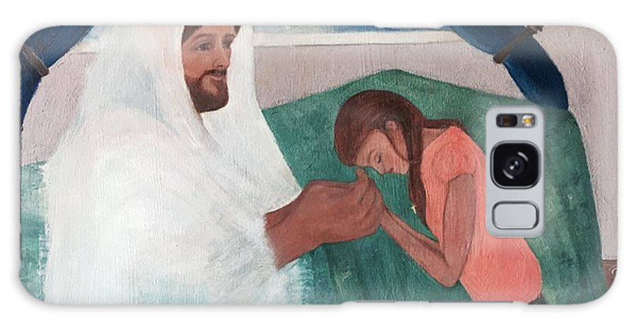 Jesus Galaxy S8 Case featuring the painting Those Who Hope In The Lord Will Renew Their Strength by Anna Mize Bell