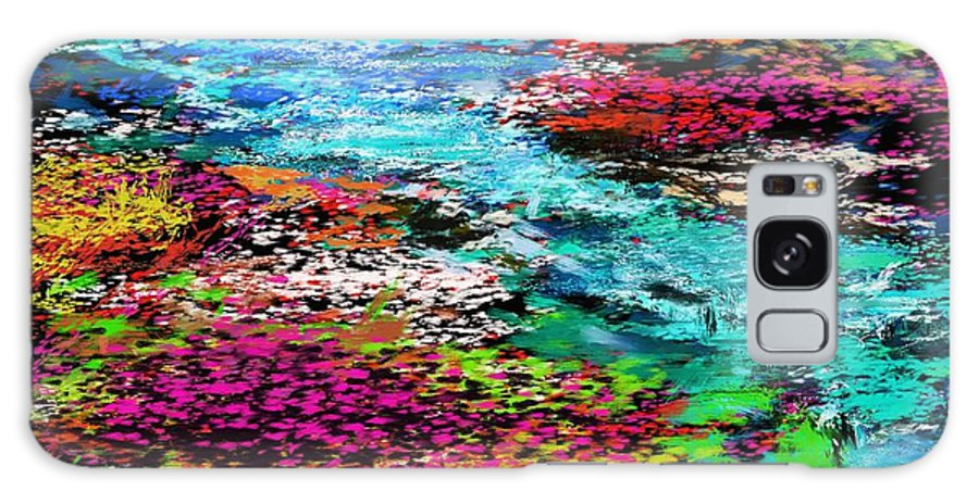 Abstract Galaxy S8 Case featuring the digital art Thought Upon A Stream by David Lane