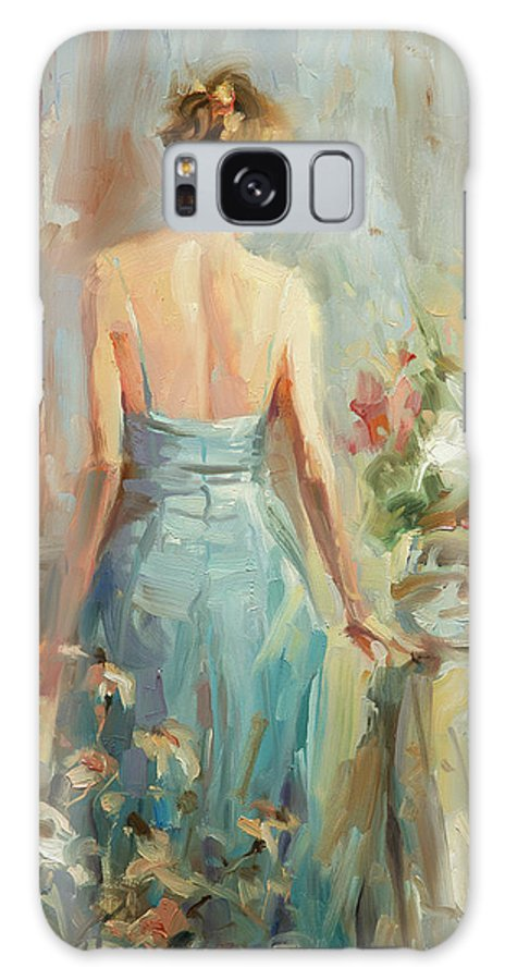 Woman Galaxy S8 Case featuring the painting Thoughtful by Steve Henderson