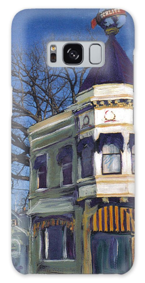 Miexed Media Galaxy Case featuring the mixed media Three Brothers by Anita Burgermeister