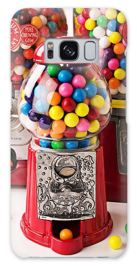 Gum; Bubble Gum; Machine; Vendor; Old Fashion; Antique Galaxy S8 Case featuring the photograph Three Bubble Gum Machines by Garry Gay