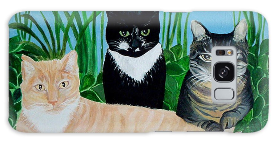 Landscape Galaxy S8 Case featuring the painting Three Furry Friends by Elizabeth Robinette Tyndall