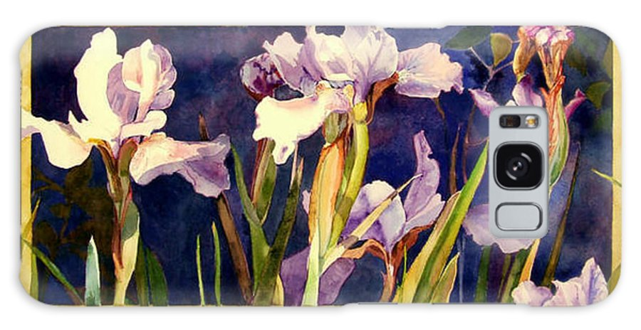Irises Galaxy Case featuring the painting Three Gossips by Linda Marie Carroll