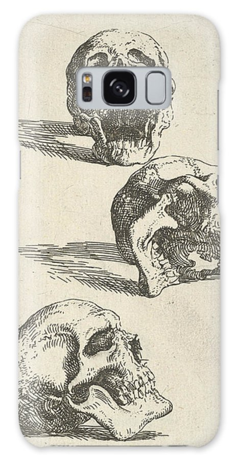 17th Century Art Galaxy S8 Case featuring the relief Three Human Skulls by Salvator Rosa