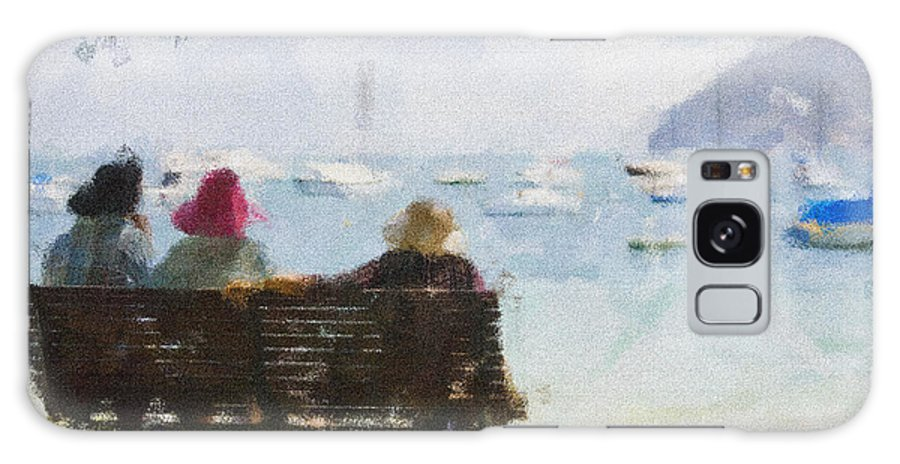 Impressionism Impressionist Water Boats Three Ladies Seat Galaxy Case featuring the photograph Three Ladies by Sheila Smart Fine Art Photography