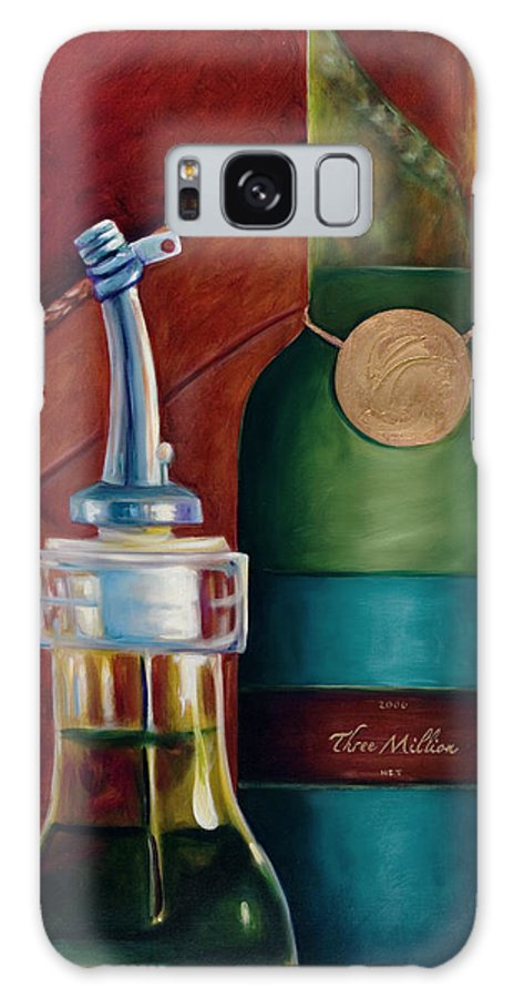 Olive Oil Galaxy Case featuring the painting Three Million Net by Shannon Grissom