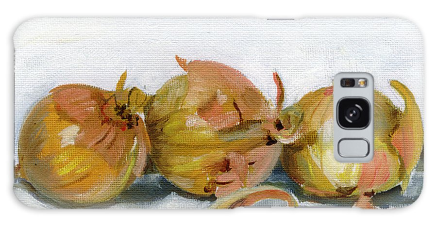 Food Galaxy S8 Case featuring the painting Three Onions by Sarah Lynch