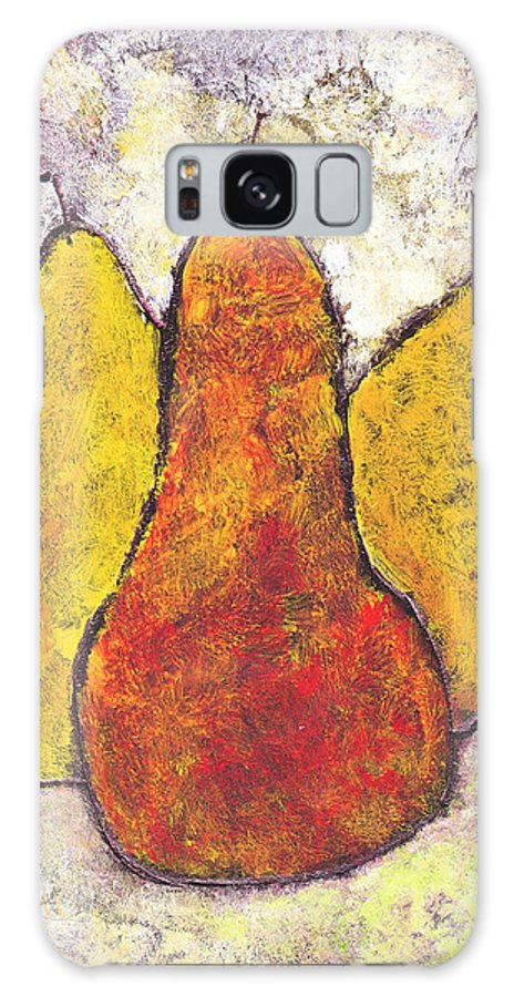 Pears Galaxy S8 Case featuring the painting Three Pears by Wayne Potrafka