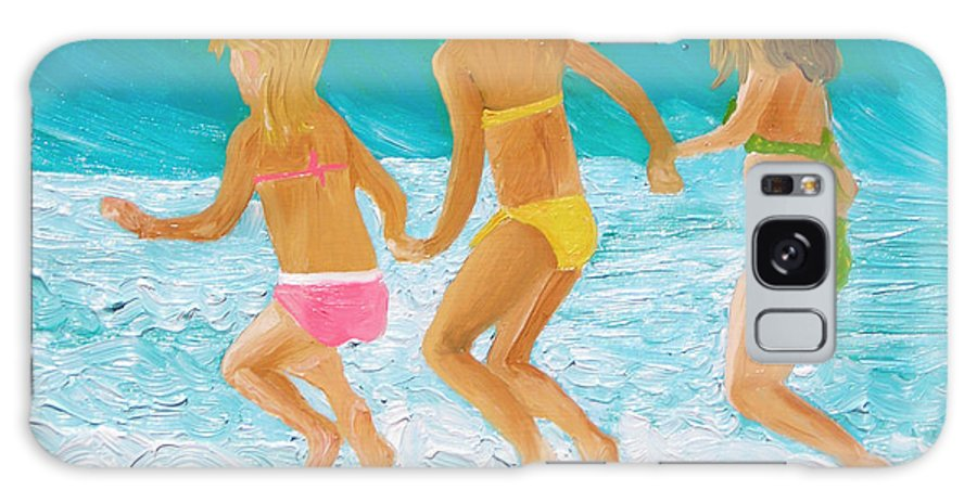 Girls On The Beach Galaxy S8 Case featuring the painting Three Sisters by Michael Lee