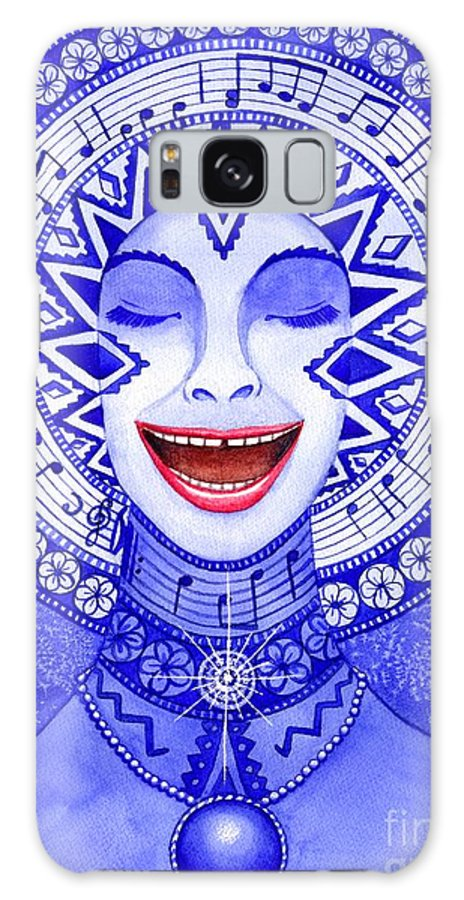 Chakra Galaxy Case featuring the painting Throat Chakra by Catherine G McElroy