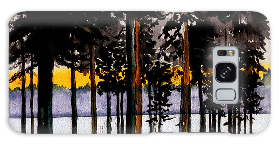 Watercolor Galaxy S8 Case featuring the painting Through My Woods by Brenda Owen