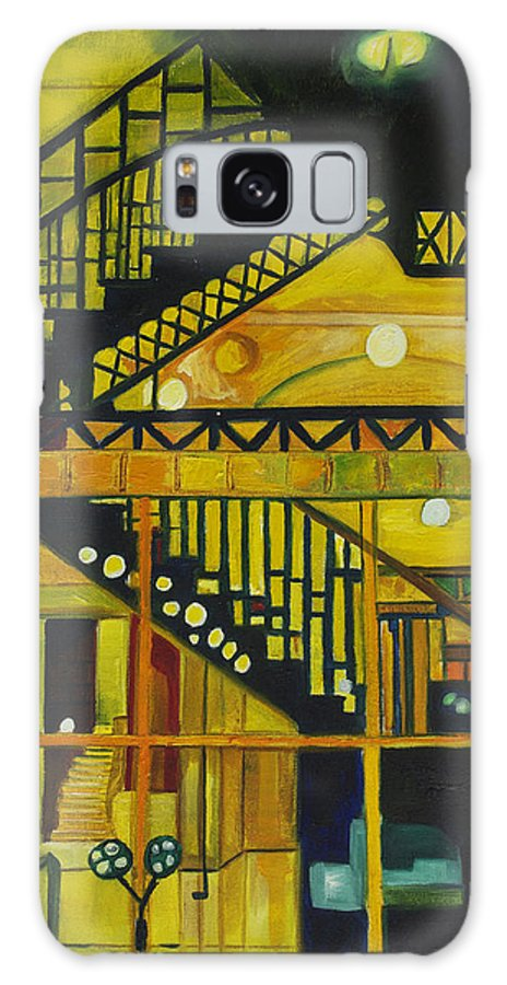 Abstract Galaxy Case featuring the painting Through Parisian Glass by Patricia Arroyo